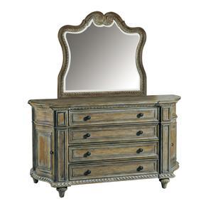 Pulaski Furniture Arabella 211 Curved Dresser & Mirror Set