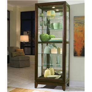 Pulaski Furniture Curios Chocolate Cherry Curio Cabinet