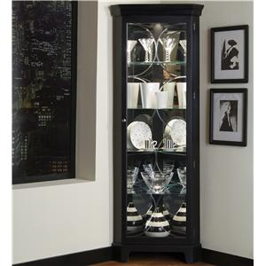 Pulaski Furniture Curios Oxford Black Corner Curio