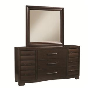 Pulaski Furniture Tangerine  Dresser and Mirror