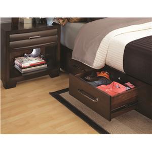 Pulaski Furniture Tangerine  California King Single Storage Rail