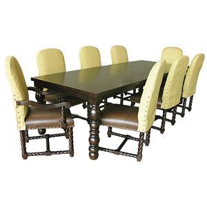 Rare Collections La Bella Vita 9Pc Rectangle Dining Table & Chair Set