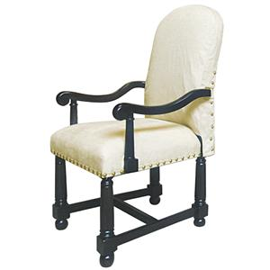 Rare Collections La Bella Vita Fabric Upholstered Arm Chair