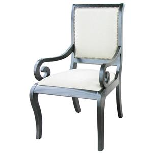 Rare Collections La Bella Vita Wood Frame Upholstered Arm Chair