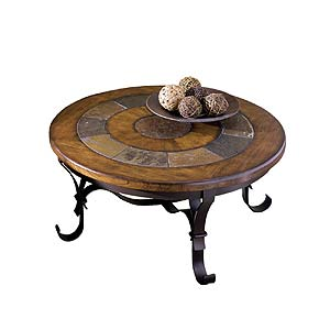 Riverside Furniture Stone Forge Round Cocktail Table