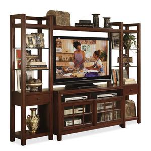 Riverside Furniture Avenue TV Console with Pier & Bridge