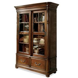 Riverside Furniture Bristol Court Sliding Door Bookcase