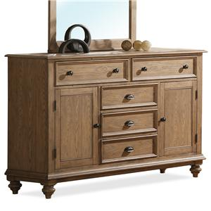 Riverside Furniture Coventry Panel Door Dresser