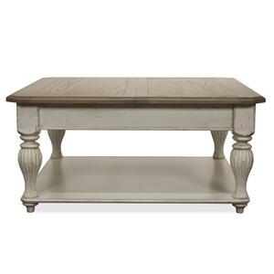 Riverside Furniture Coventry Two Tone Lift-Top Square Coffee Table