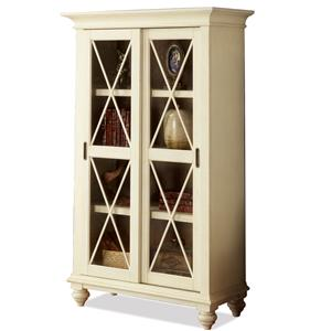 Riverside Furniture Coventry Two Tone Sliding Door Bookcase