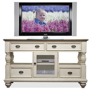 Riverside Furniture Coventry Two Tone Tall TV Console
