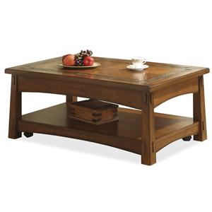 Riverside Furniture Craftsman Home Lift-Top Coffee Table