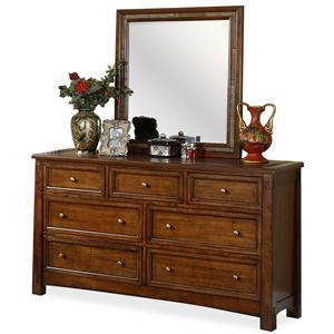 Riverside Furniture Craftsman Home Dresser & Mirror