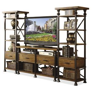 Riverside Furniture Lennox Street Console Table & Etagere Set