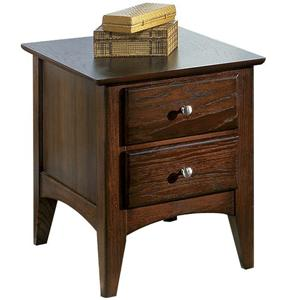 Riverside Furniture Metro II 2 Drawer Side Table