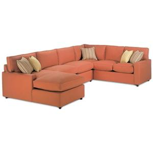 Rowe monaco sectional sofa baer 39 s furniture sofa for Boca chaise pillow