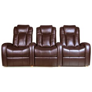 RowOne by Jasper Cabinet Bijou Home Entertainment Seating 3-Piece Theater Seating