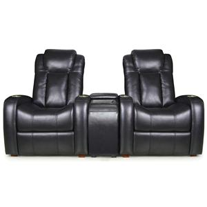 RowOne by Jasper Cabinet Bijou Home Entertainment Seating 2-Seat Theater Seating with Console