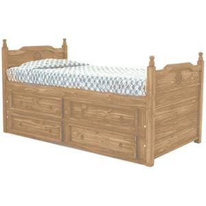 Rustic Specialists Texas Star Mesquite Full Captain's Bed