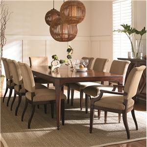 Kaleidescope Home American Kaleidoscope Rectangular Leg Table & Upholstered Chairs