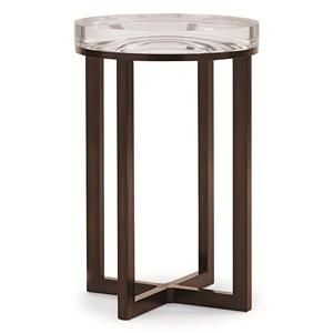 "Kaleidescope Home Caracole Classic Contemporary ""Depth Perception"" Side Table"