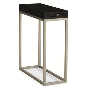 "Kaleidescope Home Caracole Classic Contemporary ""Black Tie Optional"" Side Table"