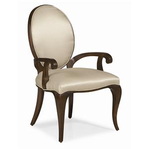 "Kaleidescope Home Caracole - Classic Contemporary ""Curve Appeal"" Dining Arm Chair"