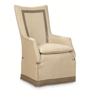 "Kaleidescope Home Caracole - Classic Contemporary ""It's a Cover Up"" Upholstered Arm Chair"