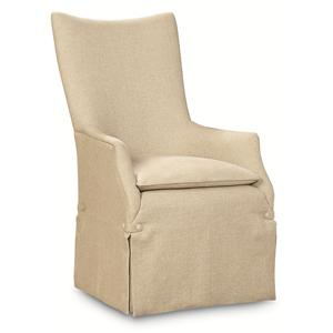"Kaleidescope Home Caracole - Classic Contemporary ""watch My Back"" Upholstered Arm Chair"