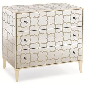 "Kaleidescope Home Caracole Classic Contemporary ""Cookies & Cream"" Nightstand"