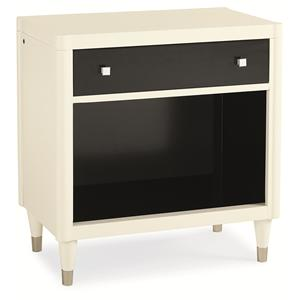 "Kaleidescope Home Caracole Classic Contemporary ""It's Black and White"" Nightstand"