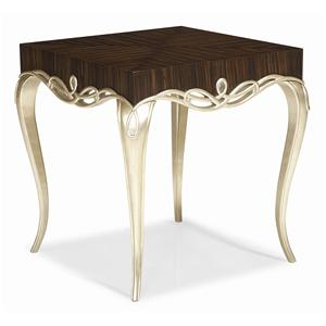 "Kaleidescope Home Caracole - Classic Contemporary ""It's Hip 2 B Square"" End Table"