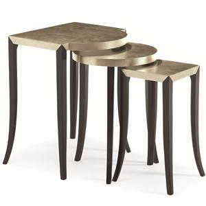 "Kaleidescope Home Caracole Classic ""Out & About"" Nesting Tables"