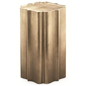 "Kaleidescope Home Caracole - New Traditional ""Gold is Up"" Side Table"