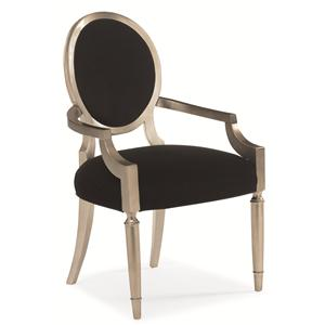"Kaleidescope Home Caracole - New Traditional ""Chit Chat"" Dining Arm Chair"