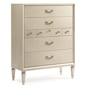 "Kaleidescope Home Caracole - New Traditional ""Pearly White"" Drawer Chest"