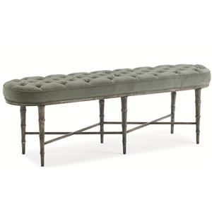 "Kaleidescope Home Caracole - New Traditional ""The Finishing Touch"" Bench"