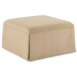"Kaleidescope Home Caracole - New Traditional ""Off-Season"" Upholstered Ottoman"