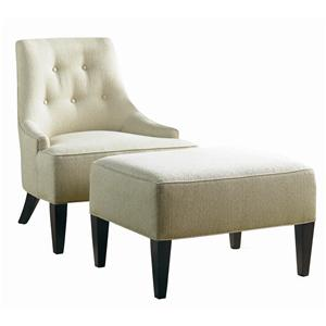 Sherrill Transitional Lounge Chair and Ottoman