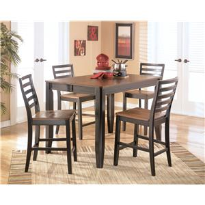 Signature Design by Ashley Furniture Alonzo 5 Piece Counter Height Table Set