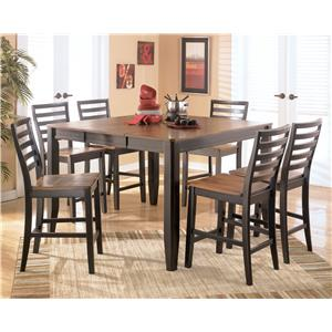 Signature Design by Ashley Furniture Alonzo 7 Piece Counter Height Table Set