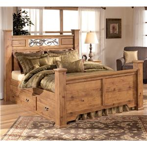 Signature Design by Ashley Bittersweet Queen Poster Bed with Storage