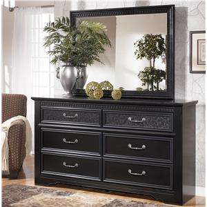 Signature Design by Ashley Furniture Cavallino Dresser & Mirror Combo