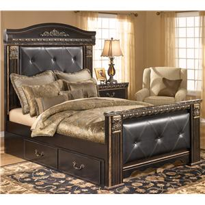 Signature Design by Ashley Furniture Coal Creek Queen Upholstered Bed with Under Bed Storage