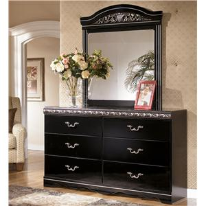 Signature Design by Ashley Furniture Constellations Dresser & Mirror Combo