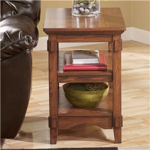 Signature Design by Ashley Furniture Cross Island Chairside End Table w/ Shelves