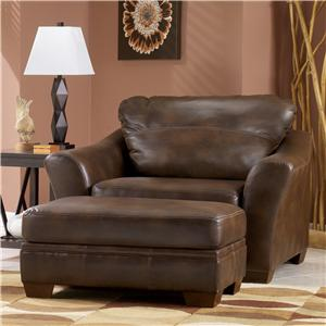 Signature Design by Ashley Furniture Del Rio DuraBlend - Sedona Chair and Ottoman