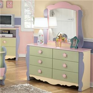 Signature Design by Ashley Doll House Dresser & Mirror