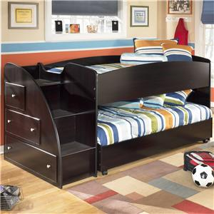 Signature Design by Ashley Embrace Twin Loft Bed with Caster Bed