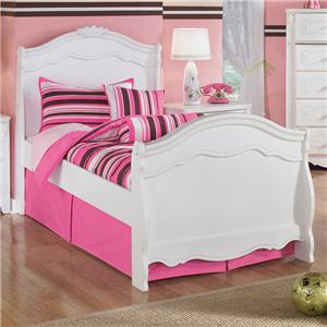 Signature Design by Ashley Furniture Exquisite Twin Sleigh Bed